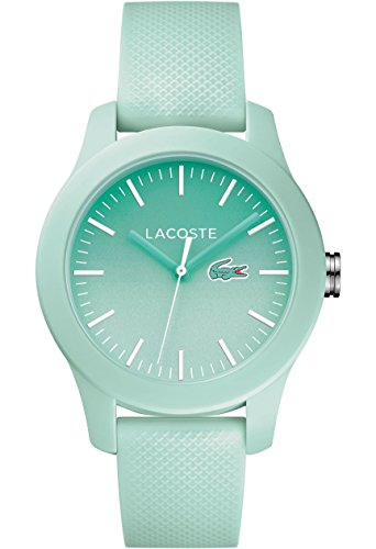 Lacoste Women's 'L.12.12.' Quartz Resin and Silicone Casual Watch, Color:Green (Model: 2000990)