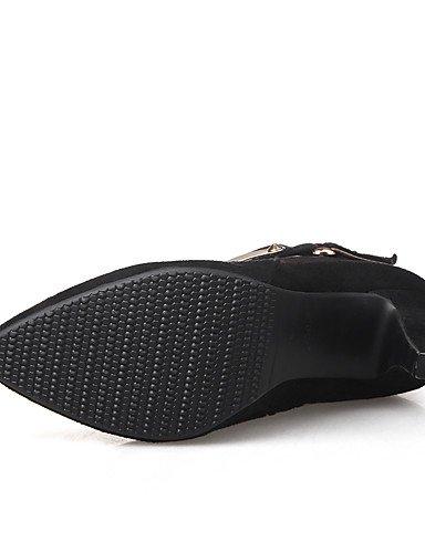 XZZ  Damen-Stiefel-Büro   Kleid     Lässig-Vlies-Stöckelabsatz-Spitzschuh   Modische Stiefel-Schwarz   Braun   Grau B01KPZQAJO Sport- & Outdoorschuhe Primäre Qualität ba3965
