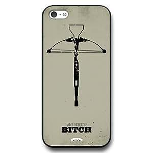 Onelee - Customized Black Hard Plastic iPhone 5c Case, The Walking Dead Daryl Dixon iPhone 5C case