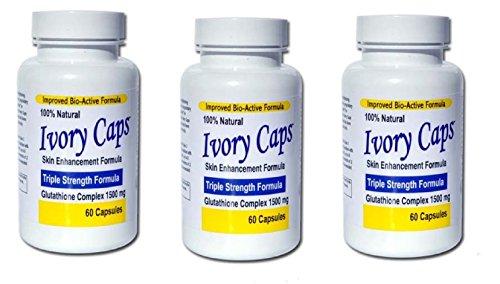 (3 Pack) Ivory Caps **SUPER VALUE**- Maximum Potency Glutathione 1500 Skin Whitening Complex