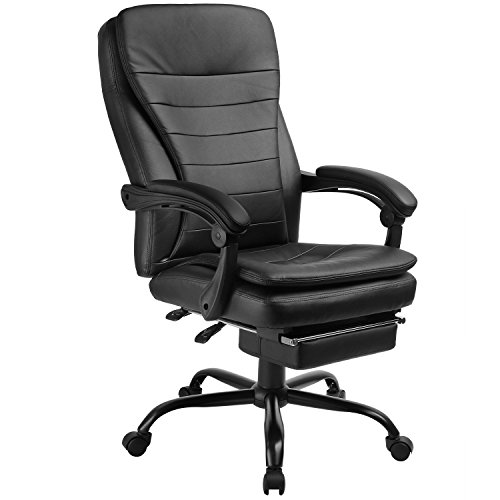 415igQooP9L - GTracing Office Chair Executive chair Ergonomic design PU Leather Manager Chair Black