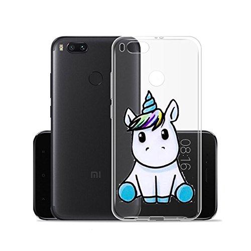 Funda para Xiaomi Mi 5X / Xiaomi Mi A1 , IJIA Transparente Hojas de Plátano Verde TPU Silicona Suave Cover Tapa Caso Parachoques Carcasa Cubierta para Xiaomi Mi 5X / Xiaomi Mi A1 (5.5) LF22