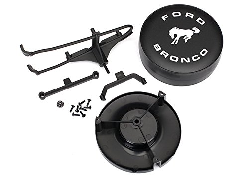 Traxxas 8074 Ford Bronco Spare Tire Mount for The TRX-4, Black