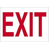 Imprint 360 AS-10009V Vinyl ADHESIVE Workplace Exit Sign- 7 x 10, Red / White, PROUDLY Made in the USA, Great Resistance to Water and Most Chemicals