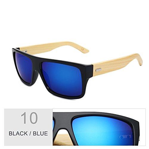 Unisex Mujer Gafas Black Leopard Uv400 Mujeres Sol De De Blue Gafas Gafas D De Sol De Era Madera De De TIANLIANG04 Gafas Deporte Bambú Brown Hombre I0RBS