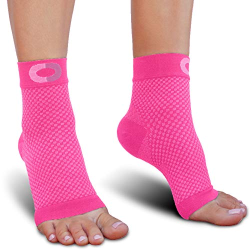 (Plantar Fasciitis Socks with Arch Support for Men & Women - Best Ankle Compression Socks for Foot and Heel Pain Relief - Better Than Night Splint Brace, Orthotics, Inserts, Insoles)