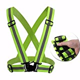Lessonmart Adjustable Safety Security High Visibility Reflective Vest Gear Stripes Jacket Night Running