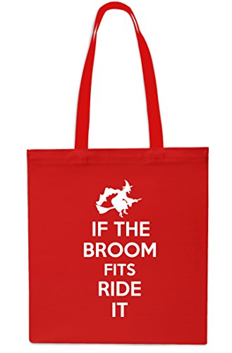 It Beach x38cm 10 42cm If Halloween Red Tote The Grey Shopping Bag Broom litres Fits Ride Gym wSSp1zIqU