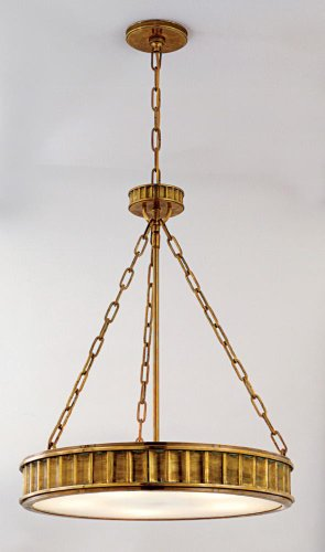 Aged Brass Five Light Pendant from the Middlebury Collection ()