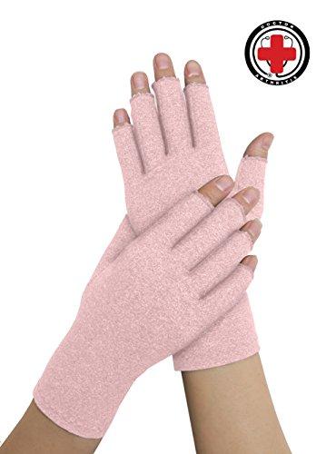 Doctor Developed Ladies Summer Arthritis Compression Gloves and DOCTOR WRITTEN HANDBOOK -Relieve Arthritis Symptoms, Raynauds Disease & Carpal Tunnel (Medium)