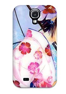 New Arrival Cover Case With Nice Design For Galaxy S4- Girl With Umbrella