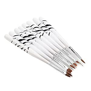 Nail Art Brushes Set,AStorePlus® 8Pcs Professional Nail Art Brushes Tools Detailed Painting Drawing Dotting Design Christmas Xmas White