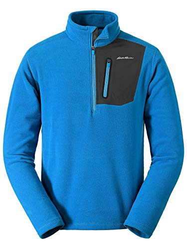 Eddie Bauer Men's Cloud Layer Pro 1/4-Zip Pullover, Ascent Blue Tall M ()