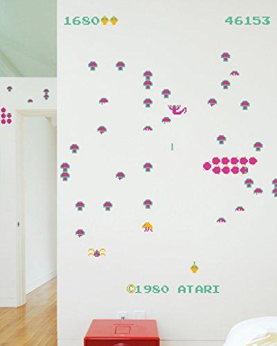 BLIK Surface Graphics Official Atari Centipede Re-Stik Reusable Wall Decals, Made in USA, (Blik Wall Decals)