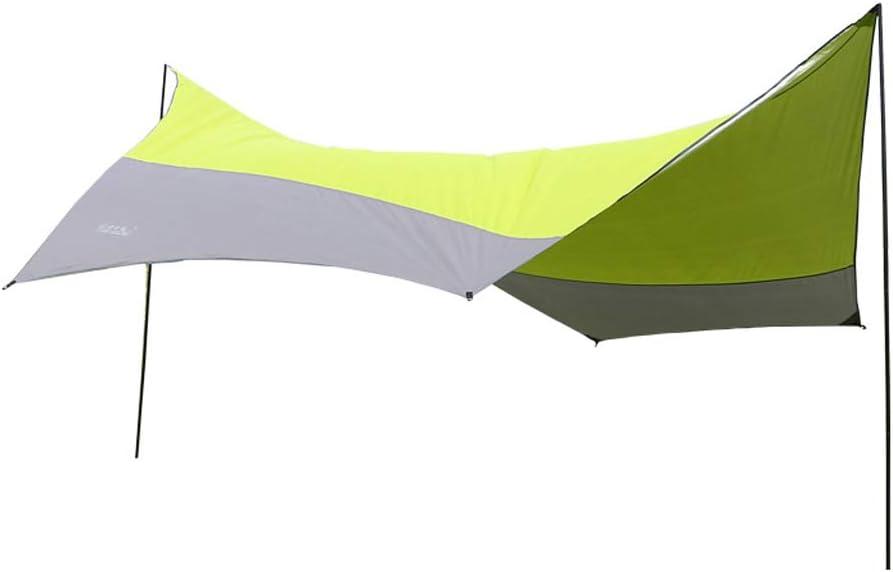 LM-BBQ Suministros para Exteriores Tienda de campaña Toldo Toldo Protector Solar Plata Anti UV Tienda de Playa Pérgola Protector Solar Adecuado para 5-8 Personas: Amazon.es: Hogar