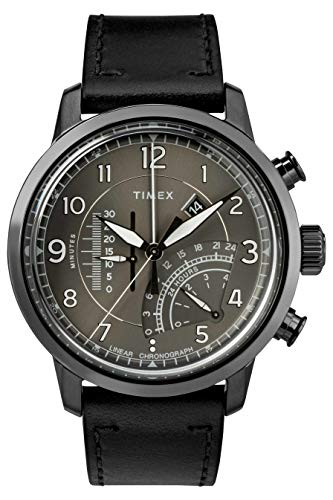 Timex Waterbury Grey Dial Leather Strap Men's Watch TW2R69000