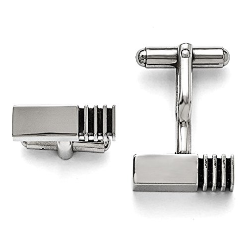 ICE CARATS Stainless Steel Inlay Cufflinks Cuff Link Man Fashion Jewelry Dad Mens Gift Set