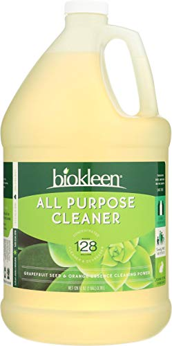 Biokleen All Purpose Cleaner, Super Concentrated, Eco-Friendly, Non-Toxic, Plant-Based, No Artificial Fragrance, Colors or Preservatives, 128 Ounces