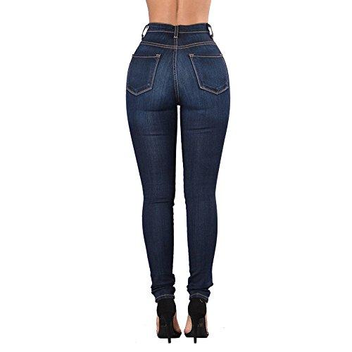 Haute Jeans Skinny Jeans Skinny Bleu Oudan Jeans Jeans d't Taille Hipster Pantalons Jeans Zipper qnZgnTfwIB
