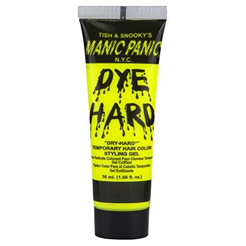 Manic Panic Electric Banana Yellow Hair Color Gel - Dye Hard - Temporary Bright Neon Yellow Hair Styling Gel - Glows Under Black Lights - Vegan Hair Dye For Adults & Kids of All Hair Types (1.66 oz) ()