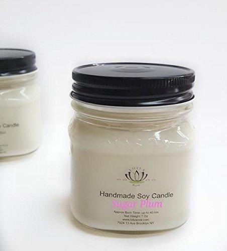 Sugar Plum Soy Candle Mason Jar by