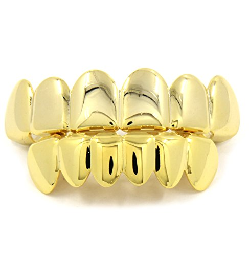 New Custom Fit 14k Gold Plated Hip Hop Teeth Grillz Caps
