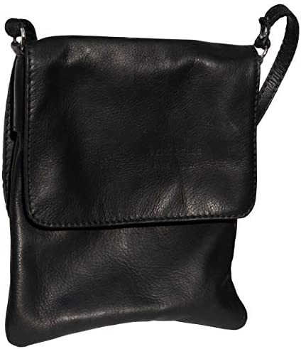 Ladies Italian Leather Style Medium Messenger Bag Shoulder Bag Handbag