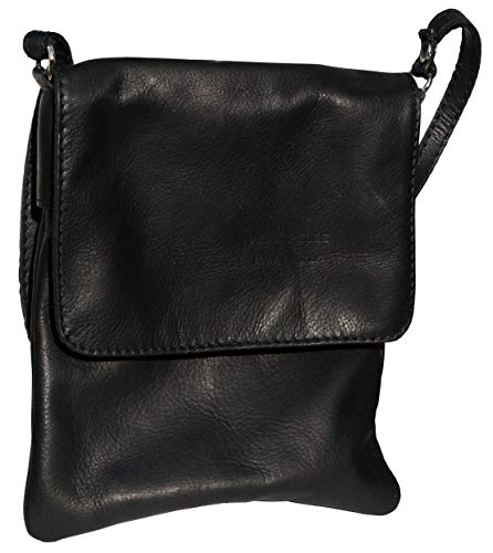 Handbag Sacchi Shoulder Includes Cross and Primo Small Medium Body Hand Black Storage Protective Bag Soft Made a Bag Messenger Branded Italian Leather Small gx4WCdqw64