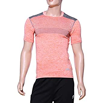 Matris Multi Color Polyester Round Neck T-Shirt For Men