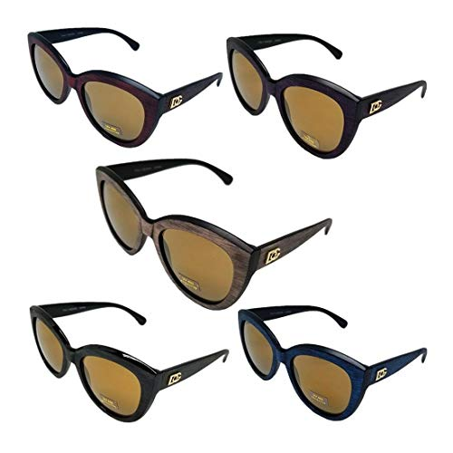 Dg Eyewear Wholesale - Wholesale Lot DG Eyewear Women's Men's Wooden Like Frame Cat Eye Sunglasses 423