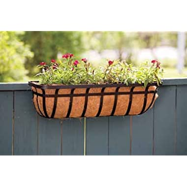 Panacea Products Flat Iron Series 30-inch (30 ) Window/Deck Planter, Black