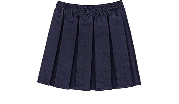 RIDDLED WITH STYLE Falda de Cintura elástica Plisada para Uniforme ...