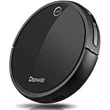 Robot Vacuum,DEENKEE 3-in-1 Robotic Vacuum Cleaner (Mopping&Sweeping) with Strong Suction,Smart Sensors,Self-Charging Robot Vacuum Cleaner for Pet Hair,Carpets,Tile,Hard Floors