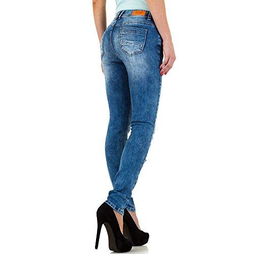 Destroyed Low Skinny Jeans Für Damen , Blau In Gr. Xl/42 bei Ital-Design