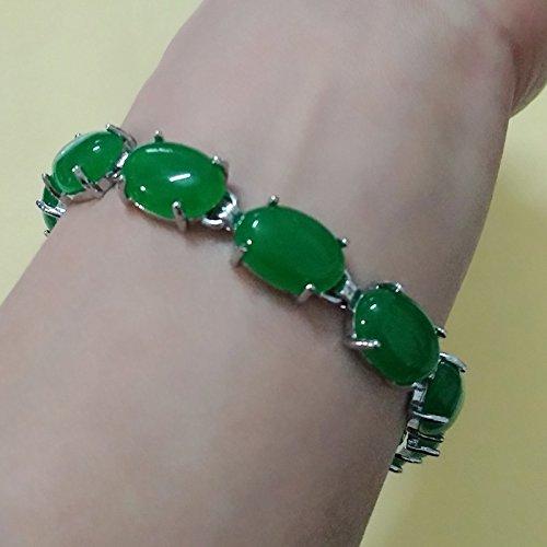 Fine pure beauty bracelet green jade bracelet Miss Ma Lai necessary goddess (Green Goddess Bracelet)