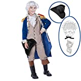 Spooktacular Creations George Washington Costume (Large (10-12yr)) Blue
