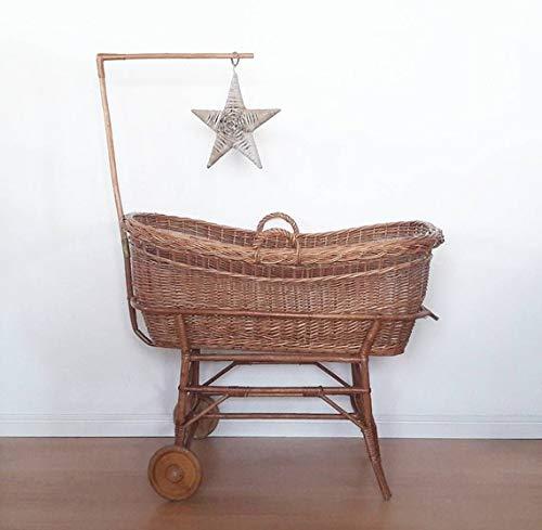 Rattan Vintage (Lovely Vintage Rattan Crib Cradle Bassinet)
