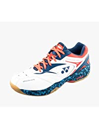Yonex Men's Power Cushion SHB-SC5 MX Badminton Shoe-Navy Orange