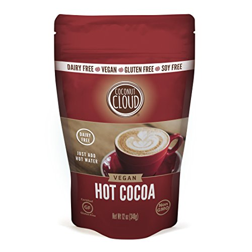 Traditional Hot Chocolate - Coconut Cloud VEGAN HOT COCOA mix: Non-dairy, INSTANT, rich and creamy, just add water, LARGE 12oz size