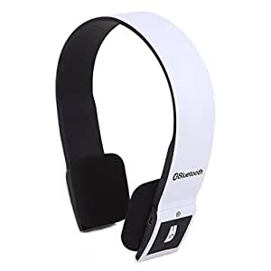 windek BH-022.4G Wireless Bluetooth V3.0+ EDR Auriculares con micrófono Auriculares estéreo Bluetooth con microphone-in para iPhone 4/4S/iPad 23/ps3–Conexión de dos equipos de Bluetooth al mismo tiempo (Blanco)