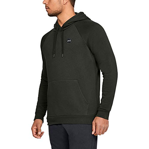 Under Armour Men's Rival Fleece Hoodie, Artillery Green (357)/Black, 3X-Large by Under Armour (Image #1)