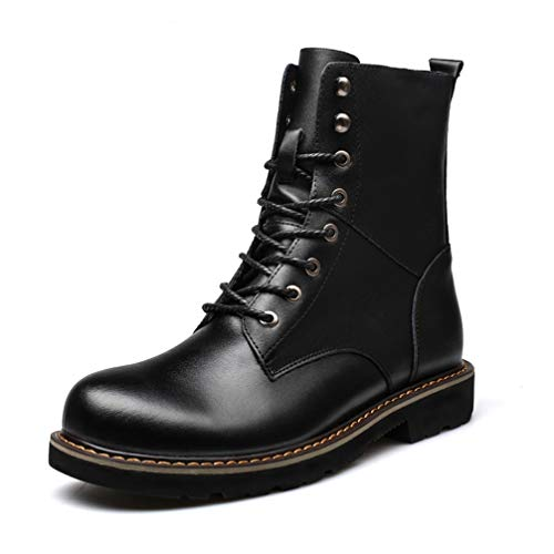 Phil Betty Mens Martin Boots Winter Plus Velvet Warm Non-Slip Casual Mid Tube Boots]()