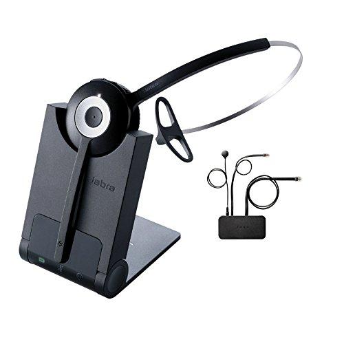 Jabra PRO 920 Mono Wireless Headset with EHS Alcatel 14201-20 Cable, Bundle for Avaya & Alcatel Phones (Adapter Avaya Bluetooth)