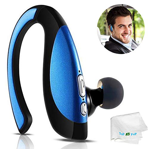Bluetooth Headphone Music Bluetooth Stereo Headset Clear Microphone Wireless Earpieces Compatible with Cell Phones Samsung Galaxy S6 S7 Edge S8 Plus S8 S9 S10 Lg Huawei Xiaomi Trucker Driver Men Women (Best Bluetooth Headset For Galaxy S7)