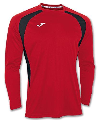Joma Champion III - Camiseta con manga larga, unisex Rojo / Negro