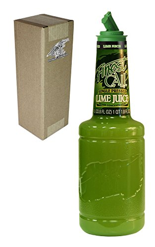 Finest Call Premium Single Pressed Lime Juice Drink Mix, 1 Liter Bottle (33.8 Fl Oz), Individually Boxed -