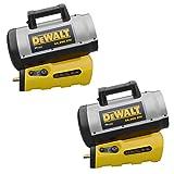 DeWalt 70,000 BTU Jobsite Portable Cordless Forced Air Propane Heater (2 Pack)