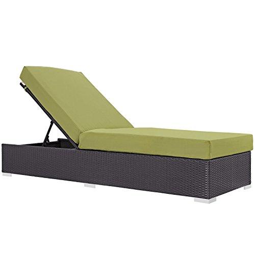 Cheap Modway Convene Wicker Rattan Outdoor Patio Chaise Lounge Chair in Espresso Peridot