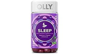 OLLY Sleep Melatonin Gummy, 35 Day Supply (70 Gummies), BlackBerry Zen, L Theanine, Chamomile, Lemon Balm, Chewable Supplement