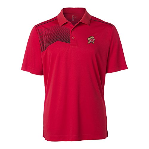 Maryland Golf Shirts (NCAA Maryland Terrapins Men's Glen Acres Polo Shirt, Large, Red)